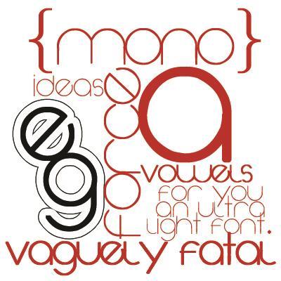 Image for Vaguely Fatal font