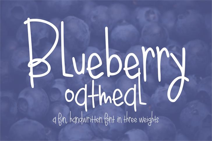 Image for Blueberry Oatmeal font