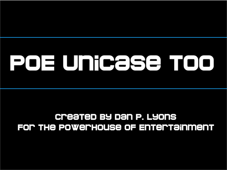 Image for POE Unicase Too font