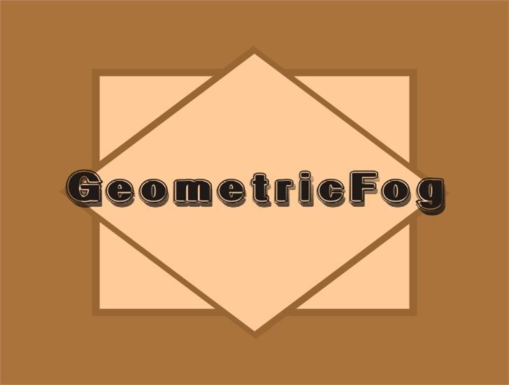 Image for GeometricFog font