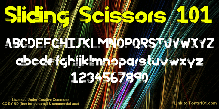 Image for Sliding Scissors 101 font