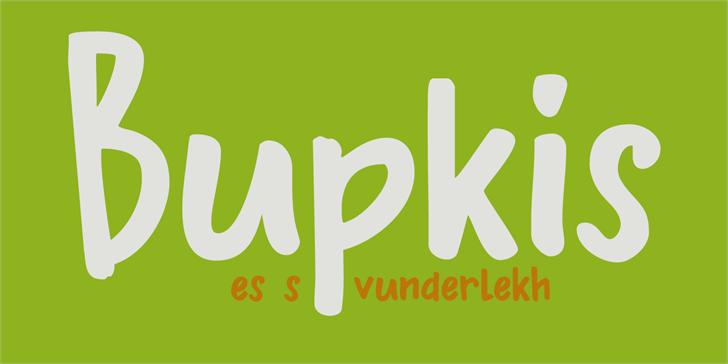 Image for DK Bupkis font