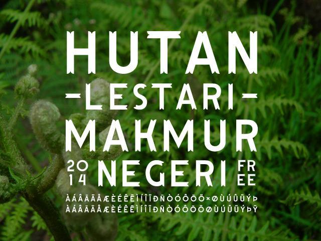 Image for Hutan Lestari font