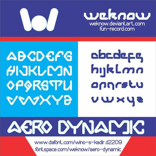Aero Dynamic font by weknow