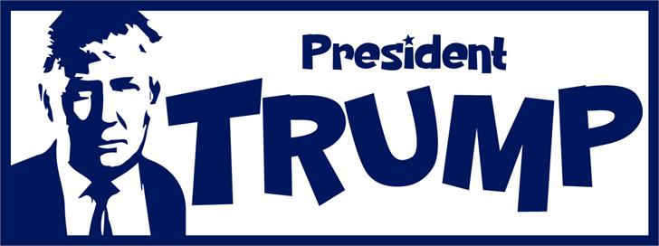 PresidentTrump font by VVB DESIGNS