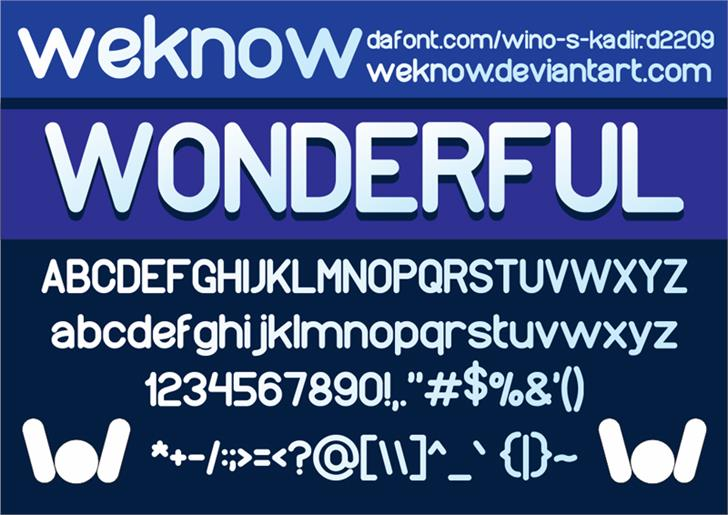 Image for wonderfull font