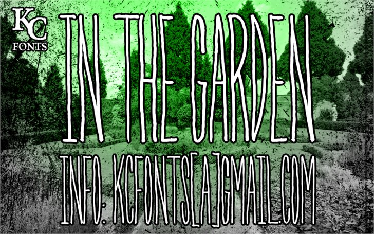 Image for In The Garden font