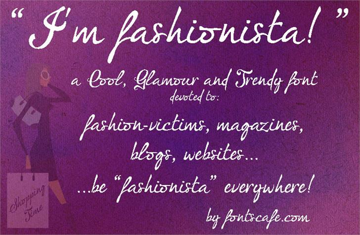 Image for I'm fashionista!_FREE-version font