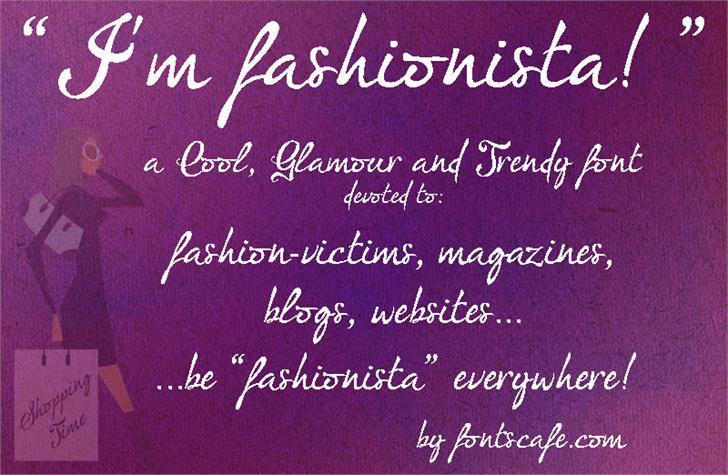 I'm fashionista!_FREE-version font by FontsCafe
