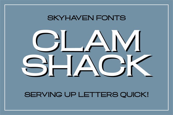 Clam Shack font by Skyhaven Fonts