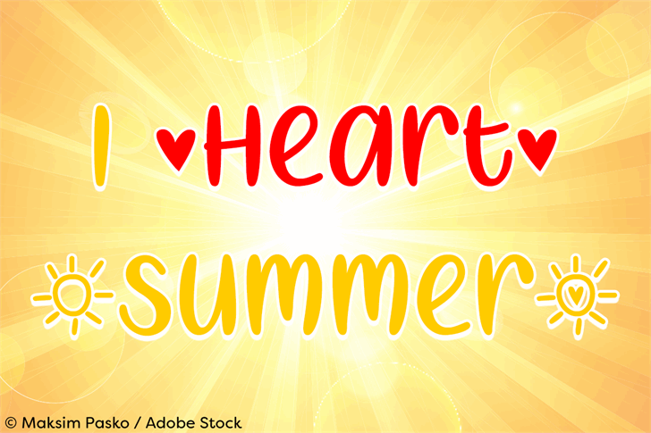 I Heart Summer font by Misti's Fonts
