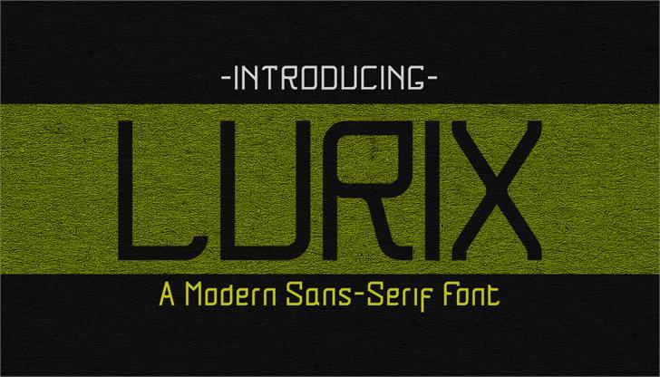 Lurix font by Dreamsucht Studio