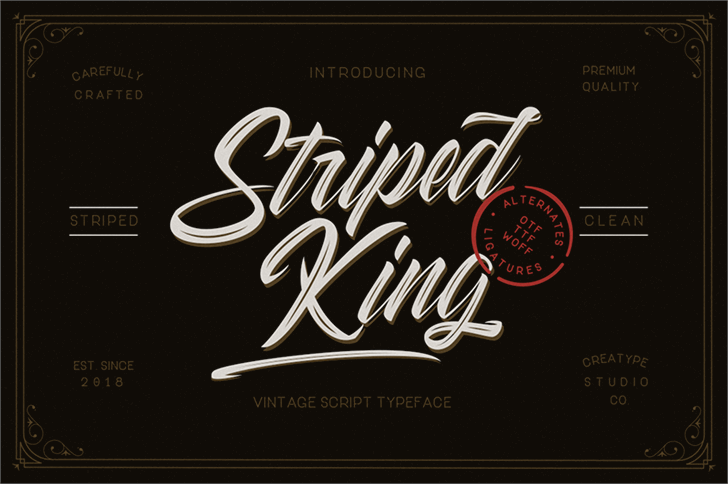 Striped King Clean font by Creatype Studio