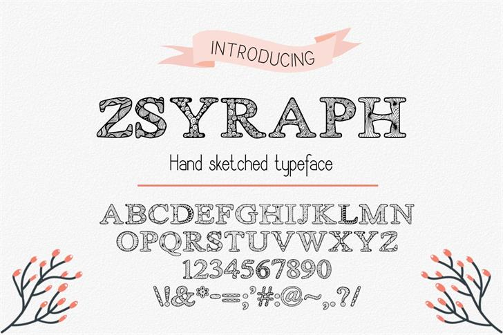 Image for Zsyraph font