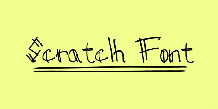 Image for Sctatch font