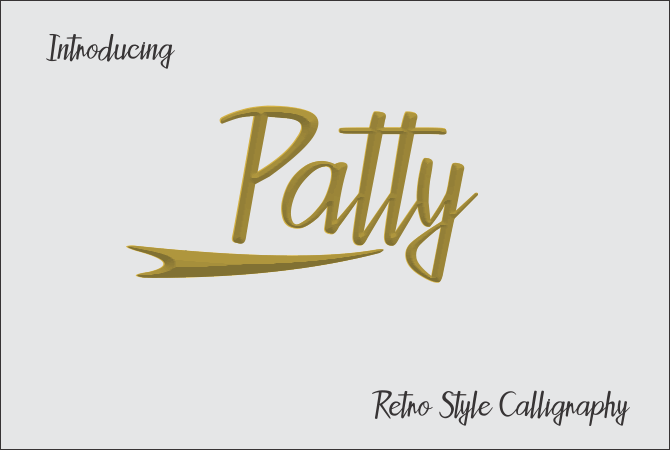 Patty font by Jaime Rangel Castro