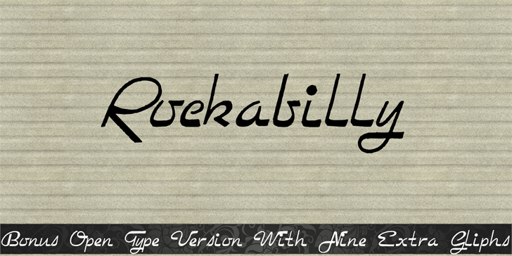 Image for Rockabilly font
