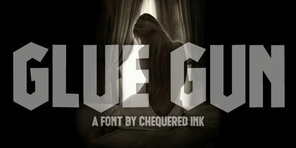 Glue Gun font by Chequered Ink