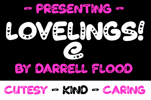 Lovelings font by Darrell Flood