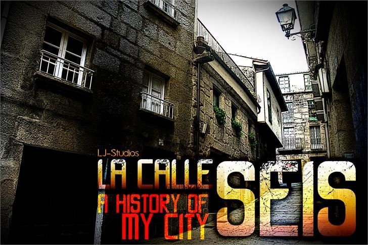 Image for LA CALLE 6 font