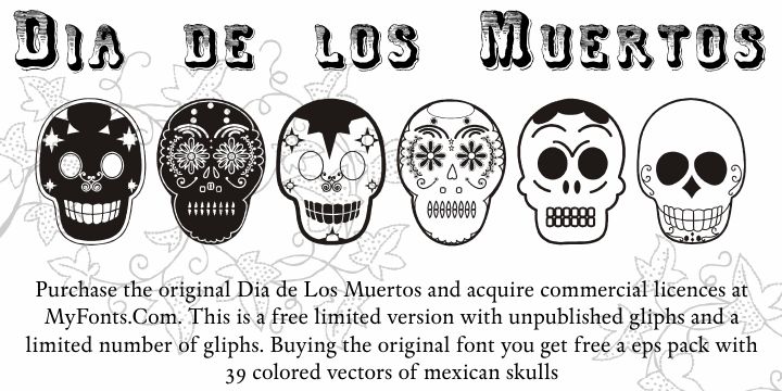 Image for Dia de los Muertos Limited Free font
