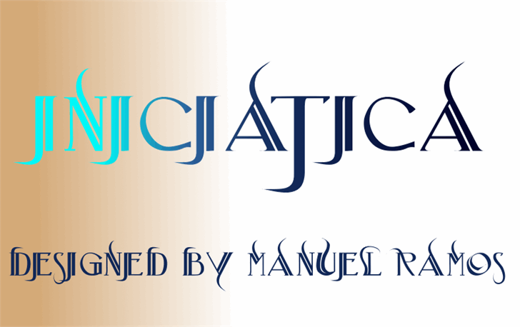 Iniciatica font by M.Ramos