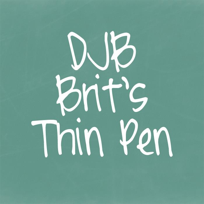Image for DJB Brit's Thin Pen font