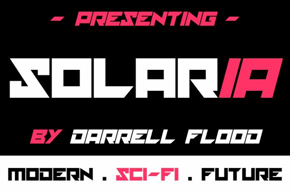 solaria font by Darrell Flood