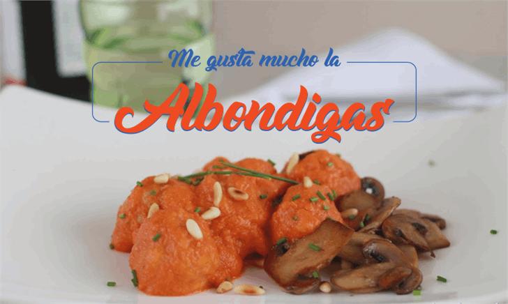 Albondigas font by Octotype