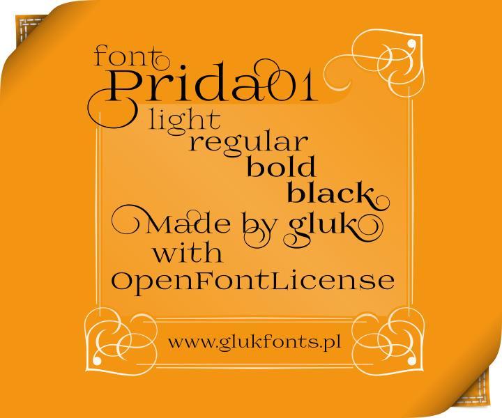 Image for Prida01 font