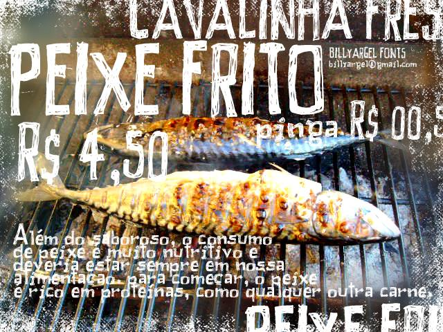 PEIXE FRITO font by Billy Argel