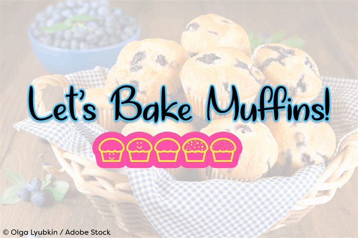 Lets Bake Muffins font by Misti's Fonts