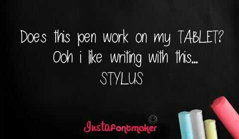 Image for stylus font