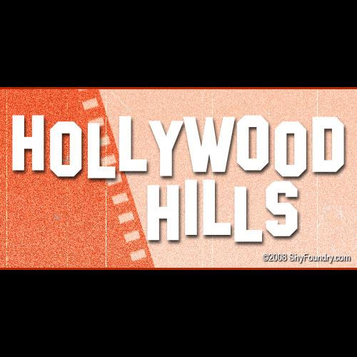 Image for SF Hollywood Hills font