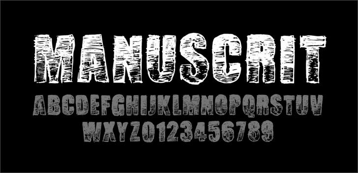 Image for Manuscrit Regular font