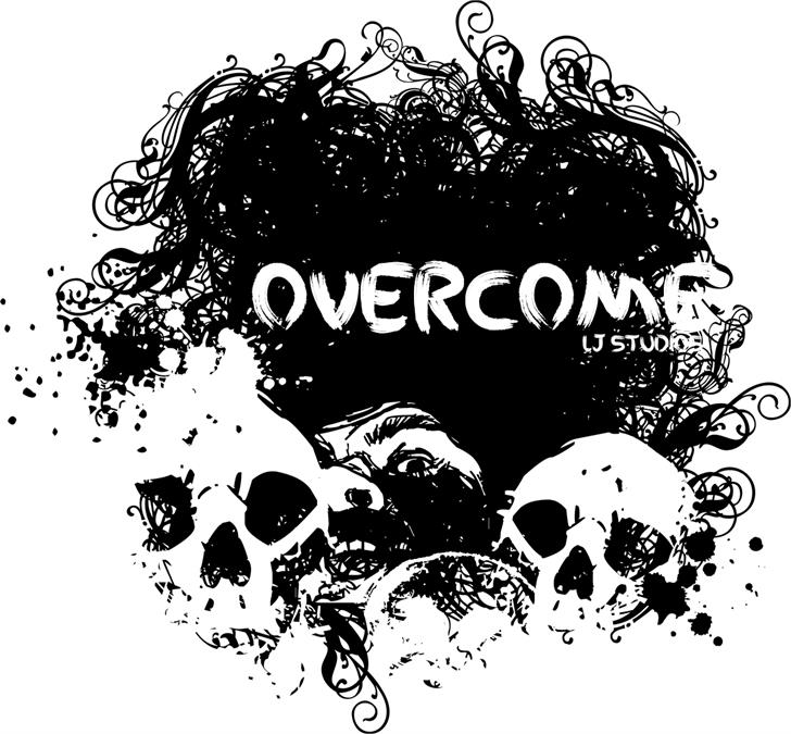 Image for Overcome font