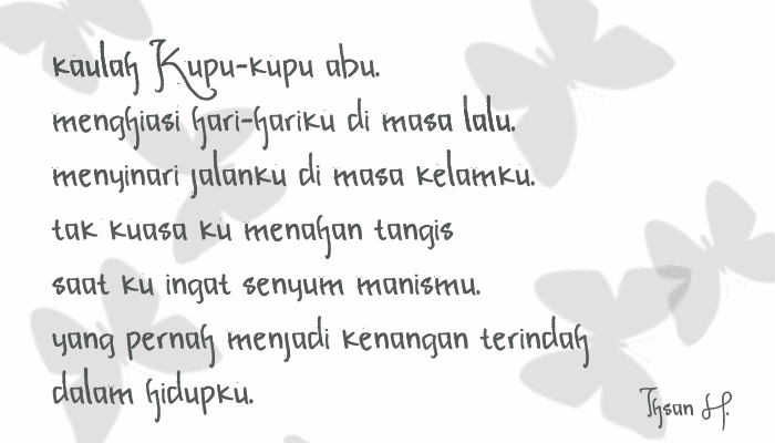 Image for Kupu-kupu abu font