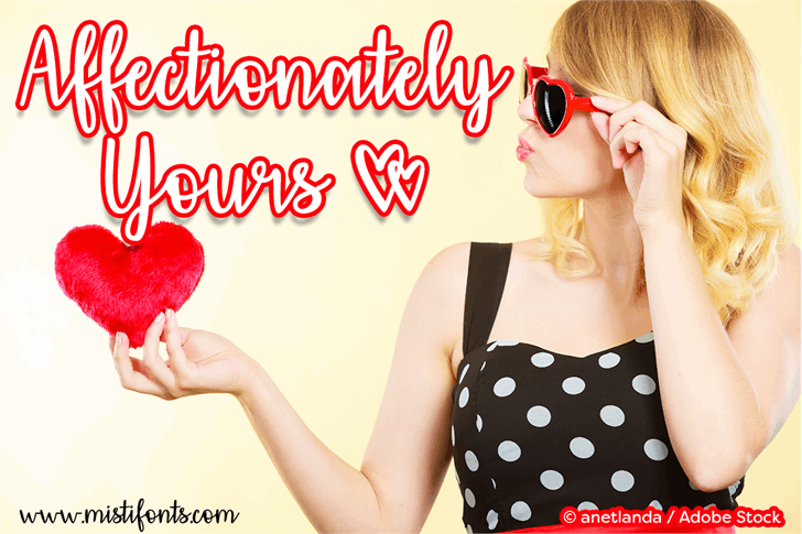 Affectionately Yours font by Misti's Fonts