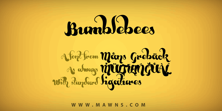 Image for Bumblebees Demo font