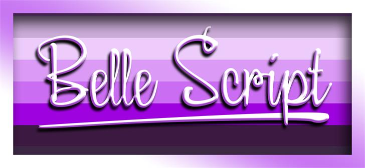 Image for Belle Script font