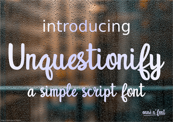 Unquestionify font by onne hermaone