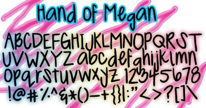 Image for MeganHand font