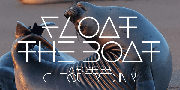 Float The Boat font by Chequered Ink