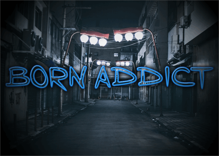 Image for Born Addict font