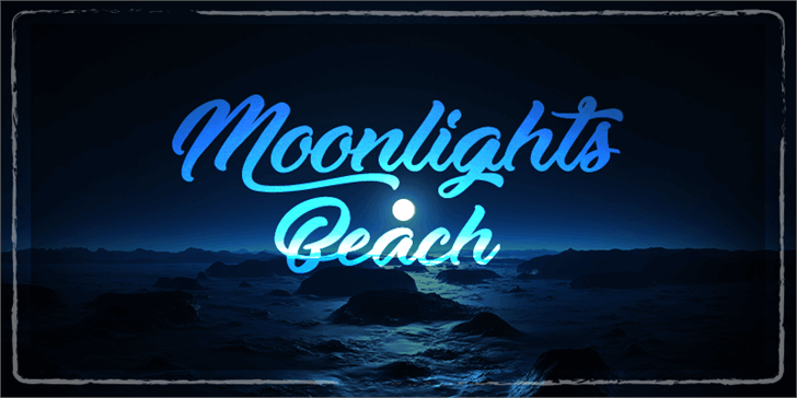 Image for Moonlights on the Beach font