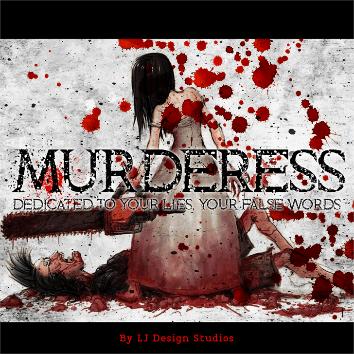 Murderess font by LJ Design Studios