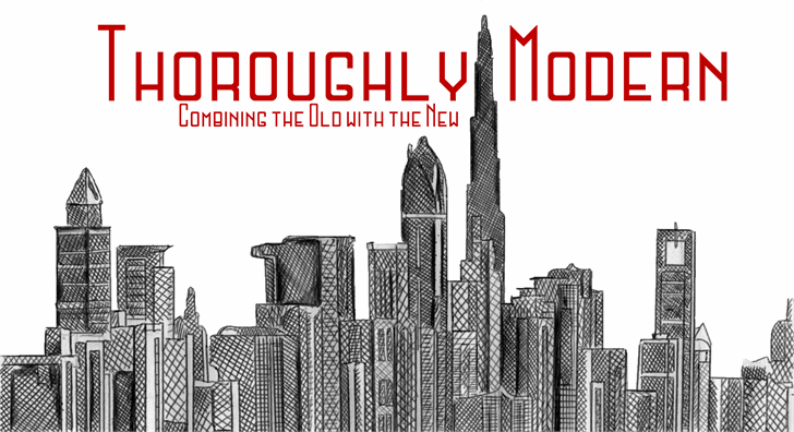 Thoroughly Modern font by MGTheatrics