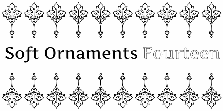 Image for Soft Ornaments Fourteen font