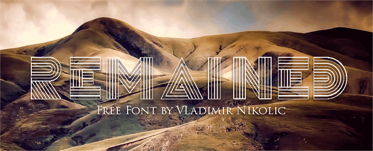 Remained font by Vladimir Nikolic