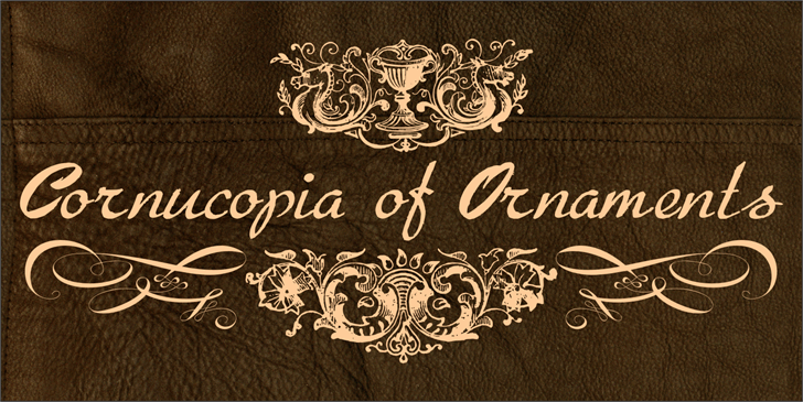 Image for Cornucopia of Ornaments font